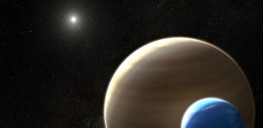 Kepler-1625 I v představách malíře. NASA/ESA/L. Hustak