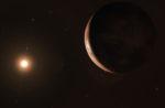 Exoplaneta u Barnardovy hvězdy. Credit: ESO/M. Kornmesser
