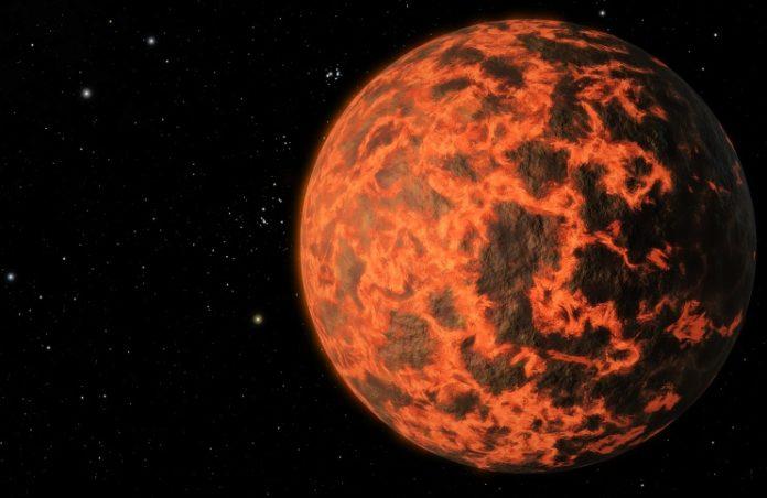 Horká země v představách malíře. credit: NASA/JPL-Caltech