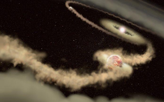 Exoplanety u PDS 70. Credit: J. Olmsted (STScI)