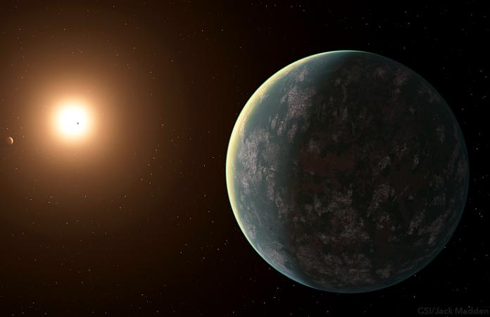 Systém GJ 357. Credit: Carl Sagan Institute/Jack Madden
